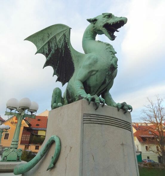 photo, image, ljubljana, slovenia, dragon statue