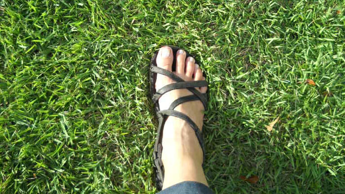 Just imagine your foot in sandals soaking up the sun in the middle of winter. .
