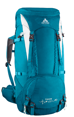 I love my Vaude backpack. packing list