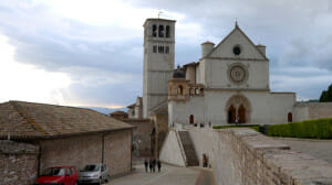 The famous Basilica of San Francesco d'Assisi.