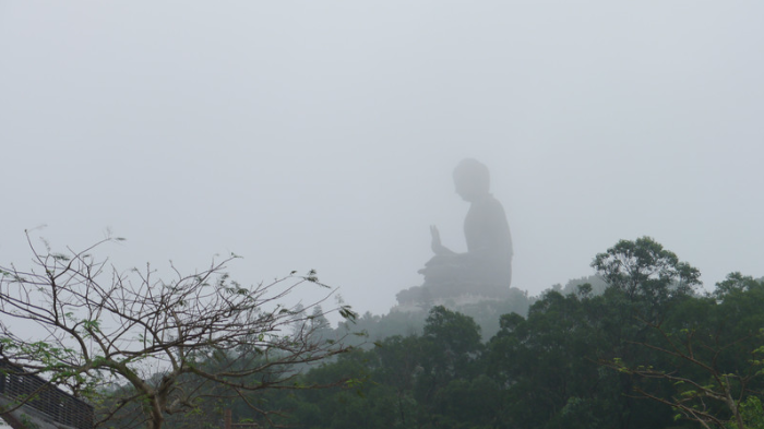 Despite being in a fog, the Big Buddha of Hong Kong was still impressive.