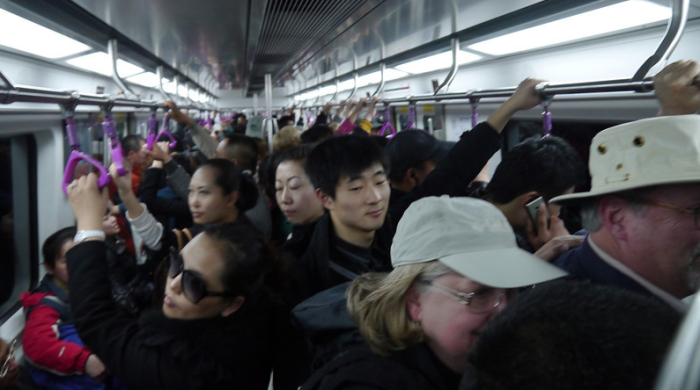 transportation for tourists in China subways, trains, taxis