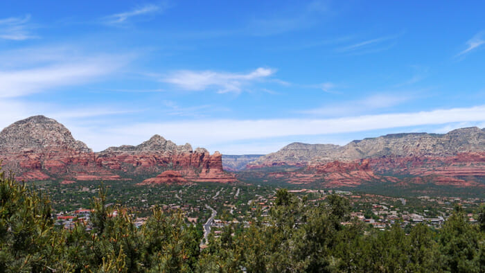 View from Airport Road in Sedona.