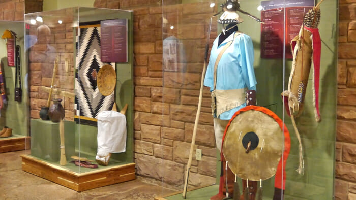 Display in the museum at Monument Valley Tribal Park.