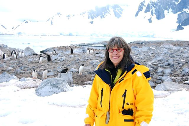 Evelyn in Antarctica this past January.
