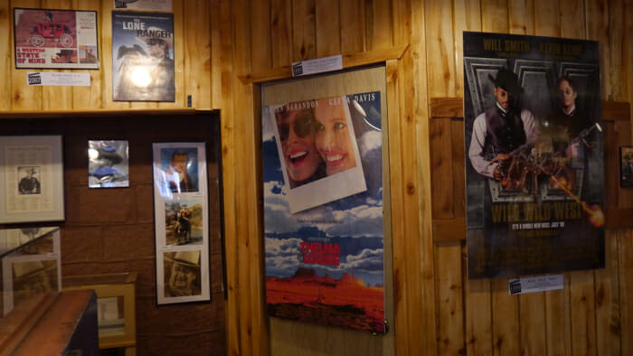 Inside Goulding's Museum the movies shot in Monument Valley are celebrated.