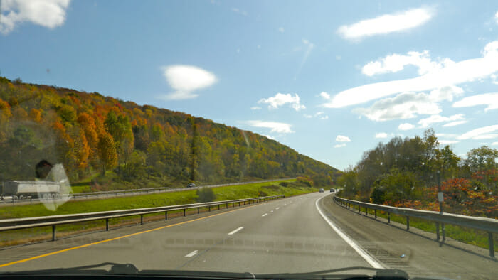 On route to New York City, fall of 2012.