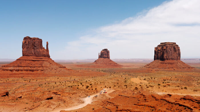 Stunning Monument Valley buttes.