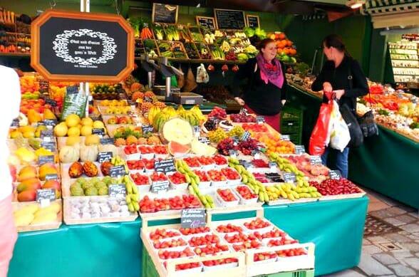 photo, image, fruit market, munich, germany