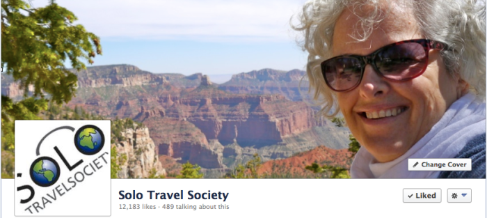 The Solo Travel Society has over 12,000 members sharing information on a daily basis.