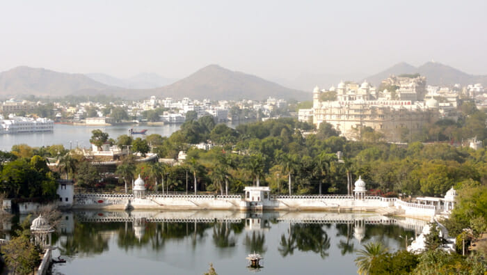 View of Udaipur and Lake Pichola