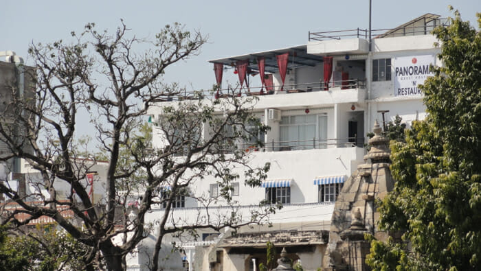 Hotel Panorama in Udaipur - nice patio, nice room, budget hotel. 1400 rupees per night.