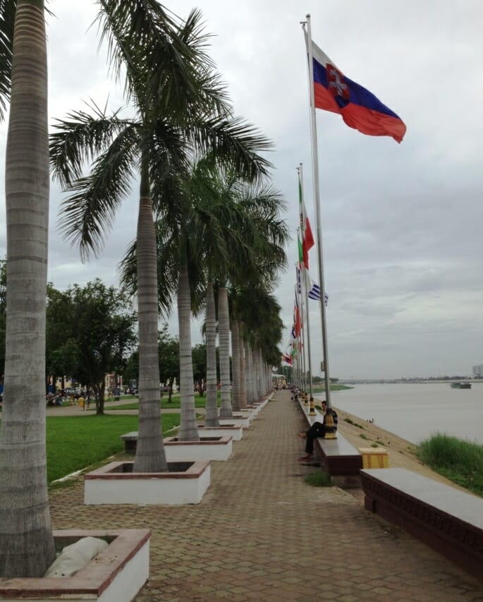 photo, image, riverfront, phnom penh