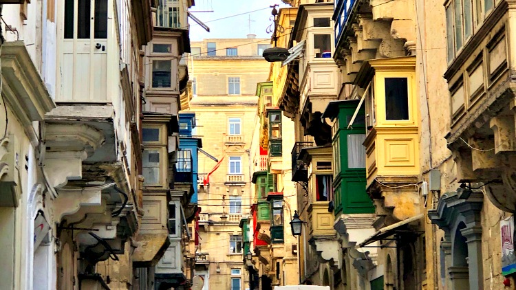 photo, image, balconies, Malta