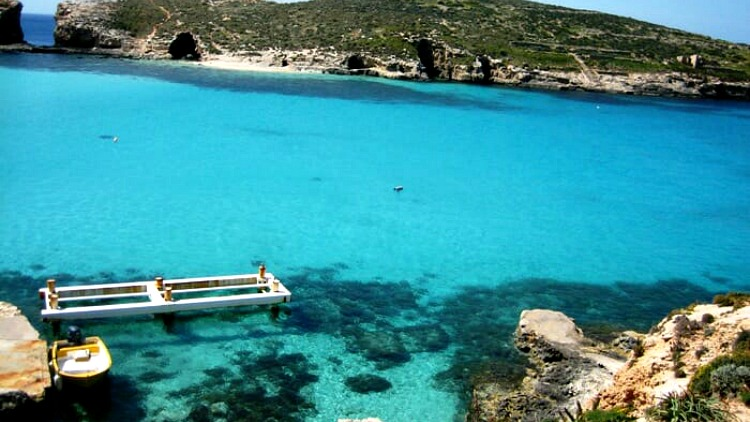 photo, image, blue lagoon, comino