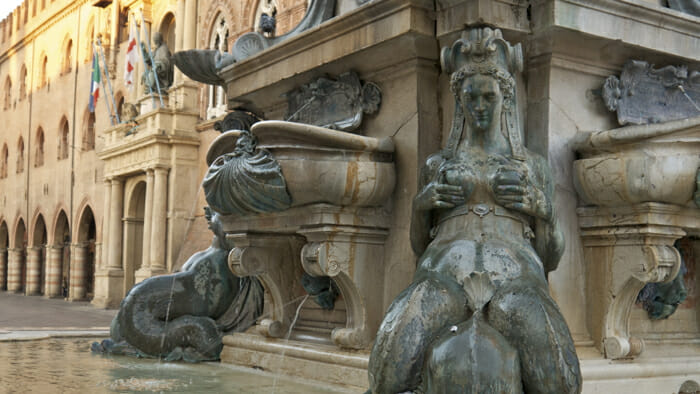 Close up of Neptune Fountain