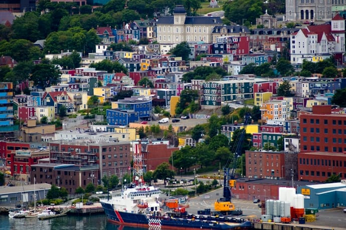 photo, image, row houses, st. john's, newfoundland