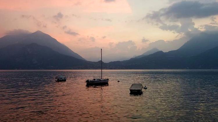 photo, image, boats, lake como, italy