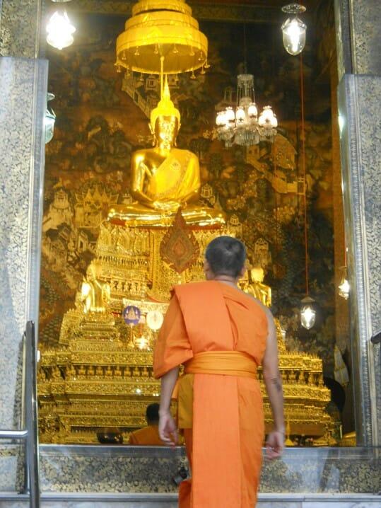 photo, image, shrine, bangkok, monk