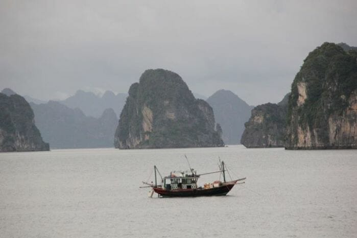 photo, image, boat, ha long bay