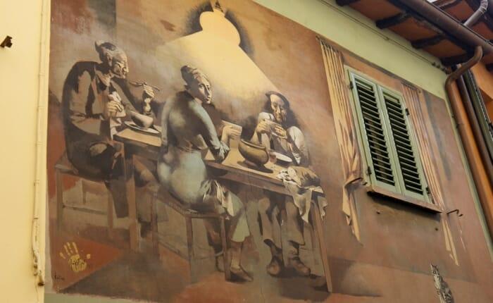 Dozza street painting, emilia romagna