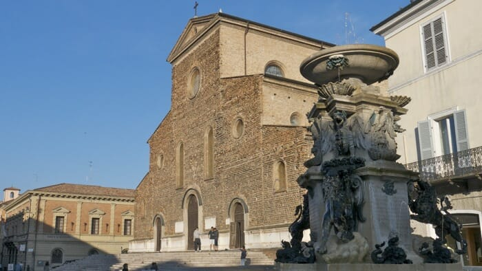 Town center of Faenza, emilia romagna