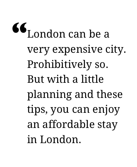 Affordable London: 31 tips