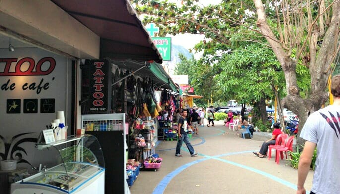 photo, image, ao nang beach, shopping, thailand