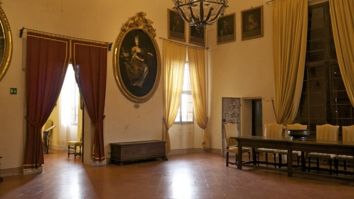 And there are formal rooms decorated from the period as well, emilia romagna