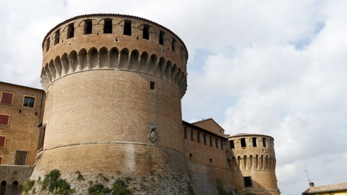 view of the fortress from the outside, emilia romagna