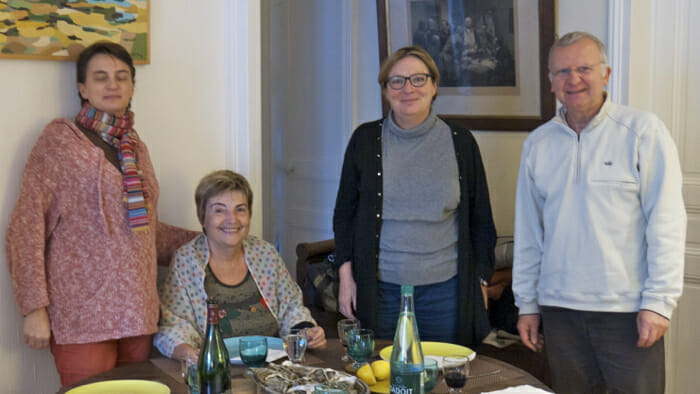 After lunch at Christine's