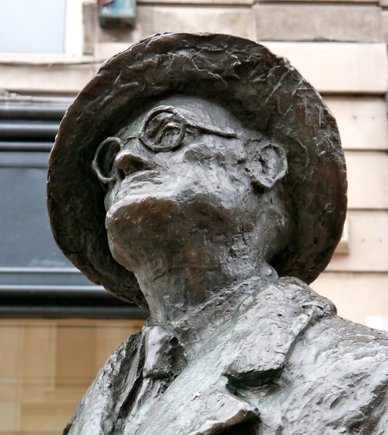 James Joyce statue in Dublin, Ireland.
