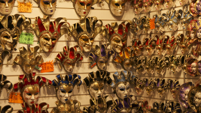 Thousands of masks made in China.