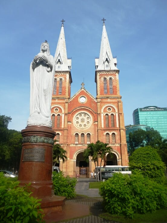 photo, image, notre dame cathedral, ho chi minh city