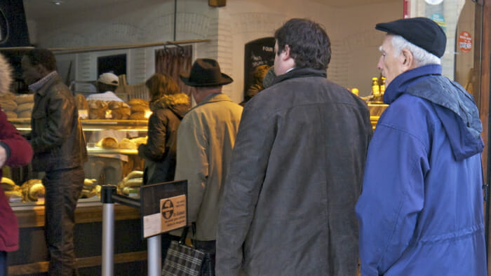 Of course, on Sunday morning, there's a line up at the bakery for bagettes.