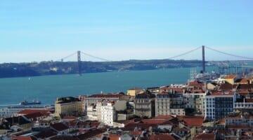 photo, image, ponte 25 de abril, lisbon, bridge