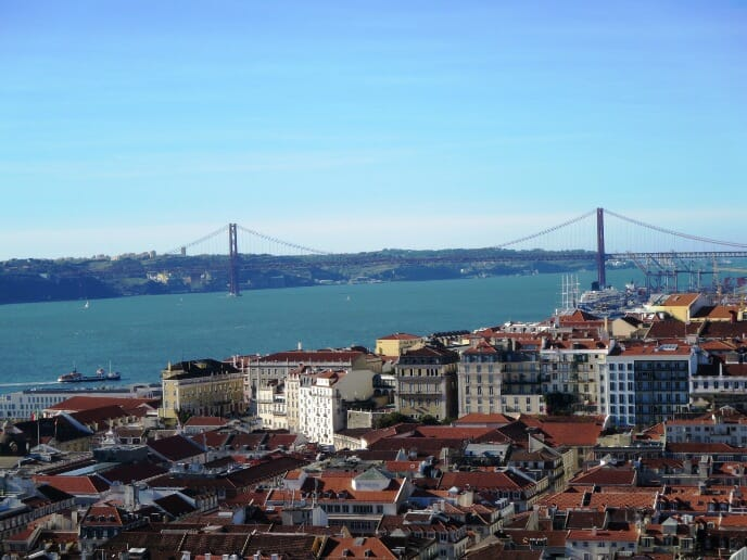 photo, image, ponte 25 de abril, lisbon, bridge