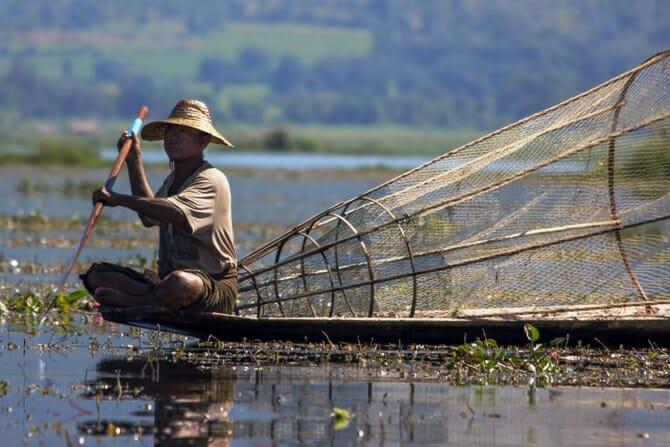 photo, image, fisherman, inle lake