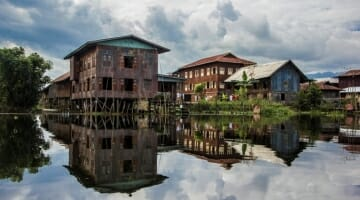 photo, image, stilt houses, nampan, myanmar
