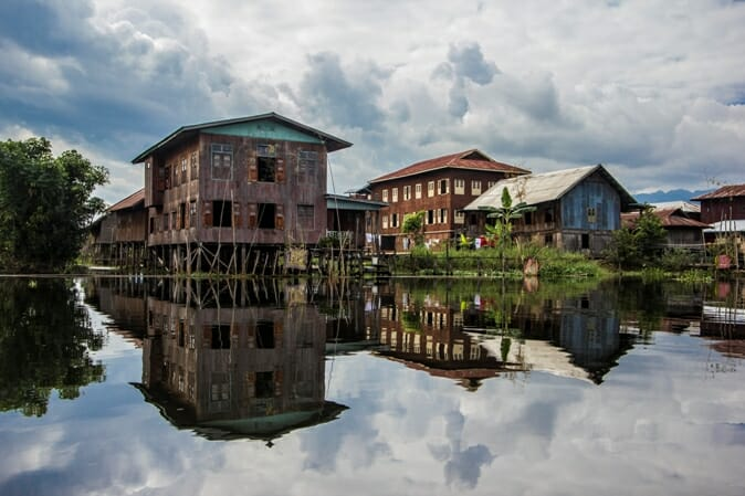 photo, image, stilt houses, nampan, myanmar