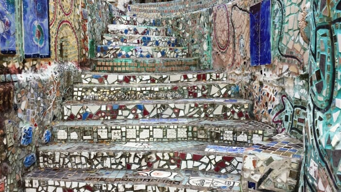 photo, image, mosaic, magic gardens
