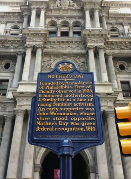 photo, image, philadelphia city hall, mother's day plaque