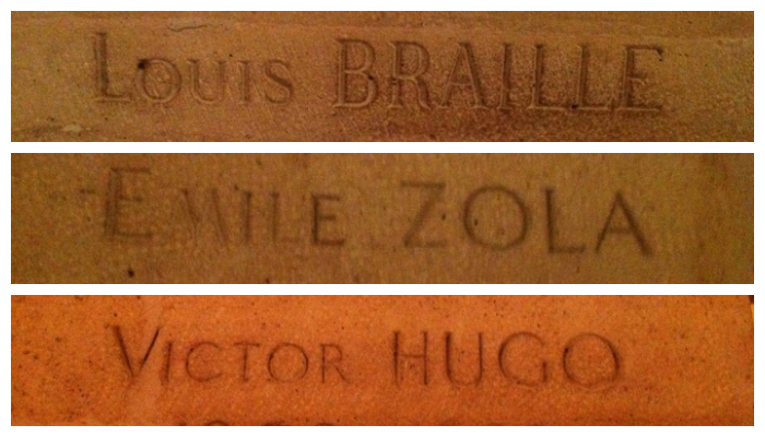 Just a few of the famous people interred in the Pantheon.