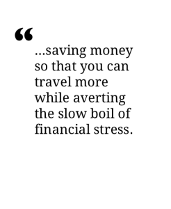 save to avoid financial stress