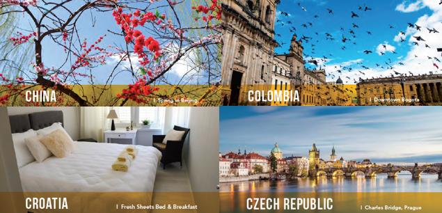 Best travel accommodation around the world.