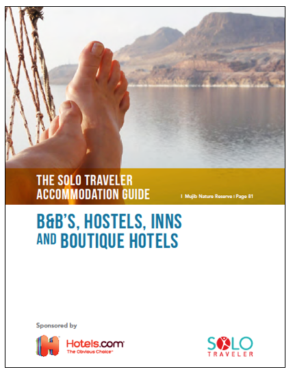 Click the image to get the FREE Solo Traveler Accommodation Guide with 159 recommendations from 51 countries – all submitted by solo travelers