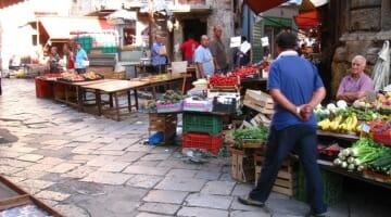 photo, image, market, palermo