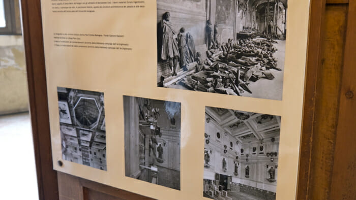 The Anatomy Theatre was seriously damaged in World War 2.
