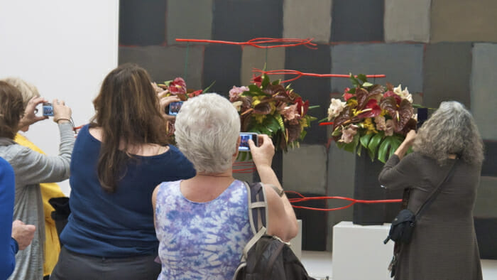Bouquets to Art is clearly very popular. I certainly wasn't the only one snapping photos of the wonderful creations