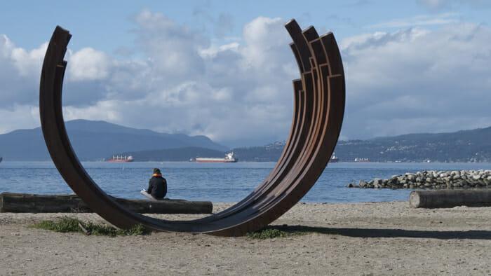 Public sculpture on Sunset Beach.